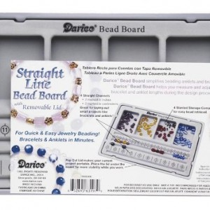 Darice 10-1/2-Inch by 7-Inch Flocked Bead Board with Lid