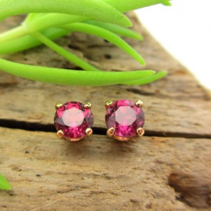 Shop Garnet Earrings! Pink Garnet Rhodolite Studs – Genuine Pink Garnet Rhodolite Stud Earrings, Real 14k Gold, Platinum, or Sterling Silver – 4mm | Natural genuine Garnet earrings. Buy crystal jewelry, handmade handcrafted artisan jewelry for women.  Unique handmade gift ideas. #jewelry #beadedearrings #beadedjewelry #gift #shopping #handmadejewelry #fashion #style #product #earrings #affiliate #ad