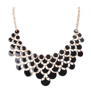 Jane Stone Best Selling Newest Fashion Necklace Magnetic Scaly Black Jewelery Vintage Openwork Bib Statement Fall Wedding Necklace(Fn0968-Black) | Shop jewelry making and beading supplies, tools & findings for DIY jewelry making and crafts. #jewelrymaking #diyjewelry #jewelrycrafts #jewelrysupplies #beading #affiliate #ad