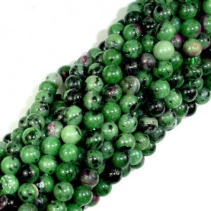 Ruby Zoisite Beads, 6mm(6.5mm) Round Beads, 15.5 Inch, Full strand, Approx 63 beads, Hole 1mm (394054005) | Natural genuine round Ruby Zoisite beads for beading and jewelry making.  #jewelry #beads #beadedjewelry #diyjewelry #jewelrymaking #beadstore #beading #affiliate #ad