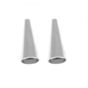 Shop Jewelry Connectors! Silver Plated Beading Cone / Strand Reducer 12.5×5.5mm (2 Pieces) | Shop jewelry making and beading supplies, tools & findings for DIY jewelry making and crafts. #jewelrymaking #diyjewelry #jewelrycrafts #jewelrysupplies #beading #affiliate #ad