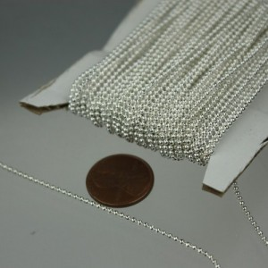 Shop Stringing Material for Jewelry Making! Sterling Silver Plated Facet BALL Chain – 32 ft. spool of Bulk Ball chain Necklace Bracelet Wholesale – 1.5mm w/ FREE 10 connectors (Crimp) | Shop jewelry making and beading supplies, tools & findings for DIY jewelry making and crafts. #jewelrymaking #diyjewelry #jewelrycrafts #jewelrysupplies #beading #affiliate #ad