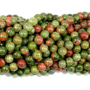 Shop Unakite Round Beads! Unakite Beads, Round, 4 Mm (4.5 Mm), 15.5 Inch, Full Strand, Approx 88-95 Beads, Hole 10.8mm, A Quality (429054007) | Natural genuine round Unakite beads for beading and jewelry making.  #jewelry #beads #beadedjewelry #diyjewelry #jewelrymaking #beadstore #beading #affiliate #ad