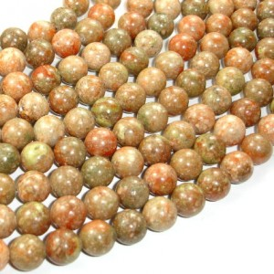 Shop Unakite Round Beads! Chinese Unakite Beads, Round, 10mm (10.5 Mm), 15.5 Inch, Full Strand, Approx 38 Beads, Hole 1 Mm, A Quality (195054002) | Natural genuine round Unakite beads for beading and jewelry making.  #jewelry #beads #beadedjewelry #diyjewelry #jewelrymaking #beadstore #beading #affiliate #ad