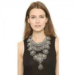 Zhenhui Fashion Vintage Silver Gold Tone Long Boho Statement Necklace Trendy Bohemian Turkish for Women Accessories From Indian Jewelry (Black) | Shop jewelry making and beading supplies, tools & findings for DIY jewelry making and crafts. #jewelrymaking #diyjewelry #jewelrycrafts #jewelrysupplies #beading #affiliate #ad