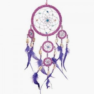 1 X Dreamcatcher Beaded Purple Feathers Iridescent | Shop jewelry making and beading supplies, tools & findings for DIY jewelry making and crafts. #jewelrymaking #diyjewelry #jewelrycrafts #jewelrysupplies #beading #affiliate #ad
