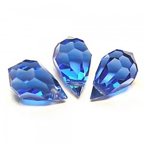 10 pcs Sapphire Blue Glass Faceted Teardrop Briolette Beads | Shop jewelry making and beading supplies, tools & findings for DIY jewelry making and crafts. #jewelrymaking #diyjewelry #jewelrycrafts #jewelrysupplies #beading #affiliate #ad