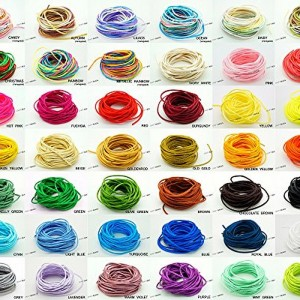 1mm Bugtail Satin Cord Shamballa Macrame Beading Nylon Kumihimo String, 4 X 5-Yard Skein (PICK YOUR COLORS!)