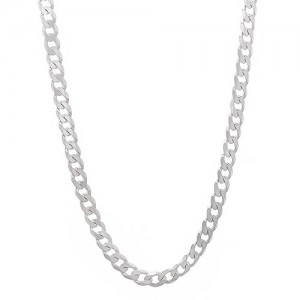 Shop Chain for Jewelry Making! 3mm Solid 925 Sterling Silver Cuban Link Curb Chain Necklace, 24″ | Shop jewelry making and beading supplies, tools & findings for DIY jewelry making and crafts. #jewelrymaking #diyjewelry #jewelrycrafts #jewelrysupplies #beading #affiliate #ad