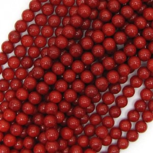 6mm red coral round beads 16″ strand | Shop jewelry making and beading supplies, tools & findings for DIY jewelry making and crafts. #jewelrymaking #diyjewelry #jewelrycrafts #jewelrysupplies #beading #affiliate #ad