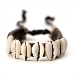 81stgeneration Men's Women's Leather Cowrie Shell Beads Tribal Adjustable Wristband Bracelet | Shop jewelry making and beading supplies, tools & findings for DIY jewelry making and crafts. #jewelrymaking #diyjewelry #jewelrycrafts #jewelrysupplies #beading #affiliate #ad