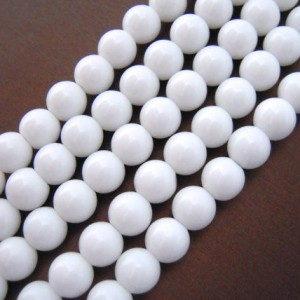 White Agate, White Beads, Smooth Round Beads, Beads 6mm 8mm 10mm 12mm, Jewelry Beads, Natural Gemstones, Natural Beads, Healing Gemstone,