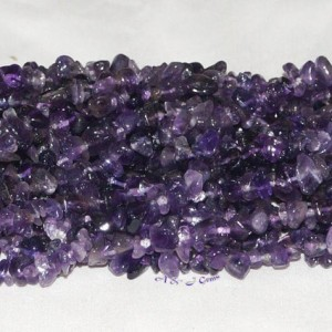 "Amethyst Chip Gemstone Bead – 33"" Strand"