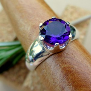 Amethyst Ring In Sterling Silver, Genuine Gemstone – Free Gift Wrapping
