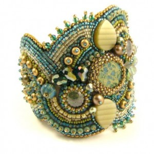 Aqua Terra Bead Embroidery Bracelet Kit
