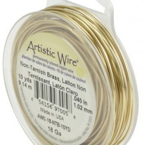 Artistic Wire 18-Gauge Non-Tarnish Brass Wire, 10-Yards | Shop jewelry making and beading supplies, tools & findings for DIY jewelry making and crafts. #jewelrymaking #diyjewelry #jewelrycrafts #jewelrysupplies #beading #affiliate #ad