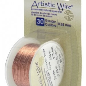 Shop Wire! Artistic Wire 30-Gauge Bare Copper Wire, 30-Yards | Shop jewelry making and beading supplies, tools & findings for DIY jewelry making and crafts. #jewelrymaking #diyjewelry #jewelrycrafts #jewelrysupplies #beading #affiliate #ad