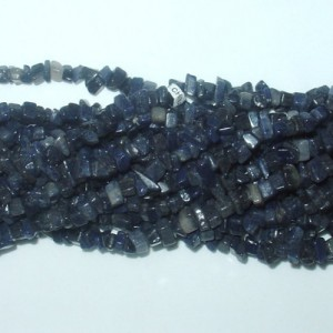 Blue Aventurine Chip Gemstone Bead – 35""