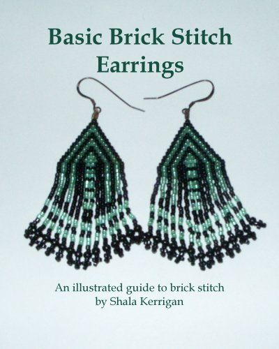 Shop Books About Jewelry Making! Basic Brick Stitch Earrings | Shop jewelry making and beading supplies, tools & findings for DIY jewelry making and crafts. #jewelrymaking #diyjewelry #jewelrycrafts #jewelrysupplies #beading #affiliate #ad