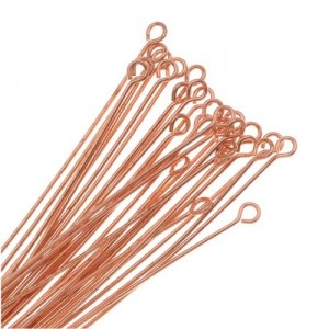 Beadaholique 50-Piece Real Open Eye Pins, 22-Gauge, 2-Inch, Copper | Shop jewelry making and beading supplies for DIY jewelry making and crafts. #jewelrymaking #diyjewelry #jewelrycrafts #jewelrysupplies #beading #affiliate
