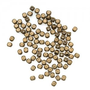 Beadaholique Rounded Cube Beads, 4mm, Antiqued Brass | Shop jewelry making and beading supplies, tools & findings for DIY jewelry making and crafts. #jewelrymaking #diyjewelry #jewelrycrafts #jewelrysupplies #beading #affiliate #ad