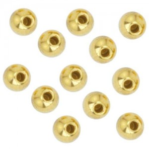 Beadalon Gold Plated Memory Wire End Cap Beads 3mm (12) | Shop jewelry making and beading supplies, tools & findings for DIY jewelry making and crafts. #jewelrymaking #diyjewelry #jewelrycrafts #jewelrysupplies #beading #affiliate #ad