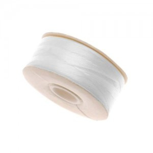 Beading Thread Size D for Delica Beads, White, 64-Yard NYMO Nylon