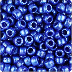 BEADTIN Cobalt Blue Pearl 9mm Barrel Pony Beads (500pc) | Shop jewelry making and beading supplies, tools & findings for DIY jewelry making and crafts. #jewelrymaking #diyjewelry #jewelrycrafts #jewelrysupplies #beading #affiliate #ad