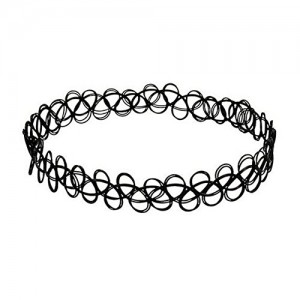 Black Gothic Stretch Elastic Double Line Henna Tattoo Choker | Shop jewelry making and beading supplies, tools & findings for DIY jewelry making and crafts. #jewelrymaking #diyjewelry #jewelrycrafts #jewelrysupplies #beading #affiliate #ad