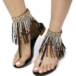 Bohemian Style Seed Bead Fringe Ankle Accessory