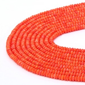 BRCbeads Gorgeous Natural Oranger Coral Gemstone Faceted Rondelle Loose Beads 4*6mm Approxi 15.5 inch 95pcs 1 Strand per Bag for Jewelry Making | Shop jewelry making and beading supplies, tools & findings for DIY jewelry making and crafts. #jewelrymaking #diyjewelry #jewelrycrafts #jewelrysupplies #beading #affiliate #ad
