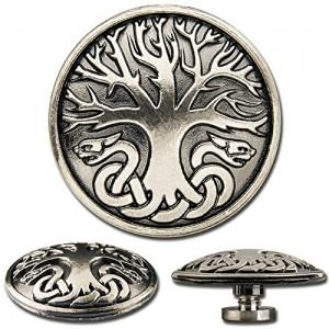 Celtic Screwback Concho, Decorative Screw Back Rivet, Celtic Tree of Life No. 1 | Shop jewelry making and beading supplies, tools & findings for DIY jewelry making and crafts. #jewelrymaking #diyjewelry #jewelrycrafts #jewelrysupplies #beading #affiliate #ad