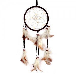 Cren® Handmade Dream Catcher with Feathers Hanging Approx 13cm/ 5.12inch Diameter 48cm/18.9inch Long | Shop jewelry making and beading supplies, tools & findings for DIY jewelry making and crafts. #jewelrymaking #diyjewelry #jewelrycrafts #jewelrysupplies #beading #affiliate #ad