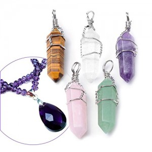 Crystal Healing Point Chakra Pendants for Necklace Making