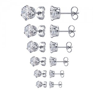 Cubic Zirconia Stud Earrings | Shop jewelry making and beading supplies, tools & findings for DIY jewelry making and crafts. #jewelrymaking #diyjewelry #jewelrycrafts #jewelrysupplies #beading #affiliate #ad