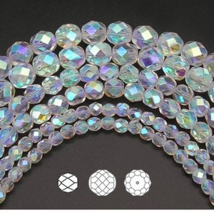 Czech Fire Polished Round Faceted Glass Beads | Shop jewelry making and beading supplies, tools & findings for DIY jewelry making and crafts. #jewelrymaking #diyjewelry #jewelrycrafts #jewelrysupplies #beading #affiliate #ad