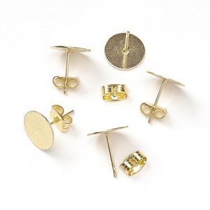 Shop Ear Wires & Posts for Making Earrings! Darice Flat Pad Earring Posts with Butterfly Clutch 6mm, Gold, Set of 36 | Shop jewelry making and beading supplies, tools & findings for DIY jewelry making and crafts. #jewelrymaking #diyjewelry #jewelrycrafts #jewelrysupplies #beading #affiliate #ad