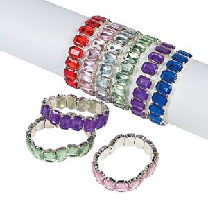 Fun Express Jumbo Jewel Bracelets (1 Dozen) | Shop jewelry making and beading supplies, tools & findings for DIY jewelry making and crafts. #jewelrymaking #diyjewelry #jewelrycrafts #jewelrysupplies #beading #affiliate #ad