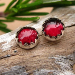 Shop Garnet Earrings! Almandine Garnet Cabochon Studs, 14k Gold Stud Earrings or Sterling Silver Garnet Studs – 6mm Low Profile Serrated or Crown Earrings | Natural genuine Garnet earrings. Buy crystal jewelry, handmade handcrafted artisan jewelry for women.  Unique handmade gift ideas. #jewelry #beadedearrings #beadedjewelry #gift #shopping #handmadejewelry #fashion #style #product #earrings #affiliate #ad