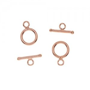 Genuine Copper Toggle Clasps 9mm (2 Sets)