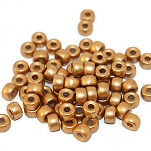 Gold Czech Glass Pony Beads | Shop jewelry making and beading supplies, tools & findings for DIY jewelry making and crafts. #jewelrymaking #diyjewelry #jewelrycrafts #jewelrysupplies #beading #affiliate #ad
