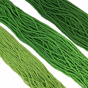 Green Opaque Mix Czech 11/0 Glass Seed Beads 3 Full Hanks Preciosa | Shop jewelry making and beading supplies, tools & findings for DIY jewelry making and crafts. #jewelrymaking #diyjewelry #jewelrycrafts #jewelrysupplies #beading #affiliate #ad