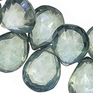 Green Quartz Briolettes Teardrop Facet Beads | Shop jewelry making and beading supplies, tools & findings for DIY jewelry making and crafts. #jewelrymaking #diyjewelry #jewelrycrafts #jewelrysupplies #beading #affiliate #ad