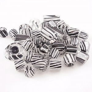 Hand Made Furnace Cane Glass Beads assorted size black and white (2 Ounce Pack) | Shop jewelry making and beading supplies, tools & findings for DIY jewelry making and crafts. #jewelrymaking #diyjewelry #jewelrycrafts #jewelrysupplies #beading #affiliate #ad