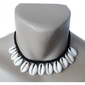 Hawaiian Jewelry Cowry Shell Necklace Black 16″ | Shop jewelry making and beading supplies, tools & findings for DIY jewelry making and crafts. #jewelrymaking #diyjewelry #jewelrycrafts #jewelrysupplies #beading #affiliate #ad
