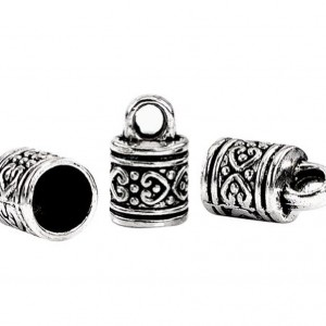 Housweety 40 Silver Tone Pattern Carved Column Pendants/Necklace End Caps 16x10mm | Shop jewelry making and beading supplies, tools & findings for DIY jewelry making and crafts. #jewelrymaking #diyjewelry #jewelrycrafts #jewelrysupplies #beading #affiliate #ad