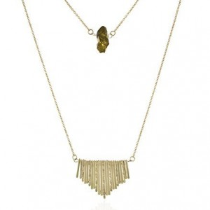 INPINK Fashion Jewelry Crystal Fringe Necklace in Gold-Tone   Shop jewelry making and beading supplies, tools & findings for DIY jewelry making and crafts. #jewelrymaking #diyjewelry #jewelrycrafts #jewelrysupplies #beading #affiliate #ad