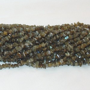"Shop Labradorite Chip & Nugget Beads! Labradorite Chips Gemstone Bead – 34"" Strand 