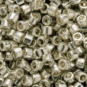 Miyuki DB035 Delica Bead, 7.2g, Galvanized Silver | Shop jewelry making and beading supplies, tools & findings for DIY jewelry making and crafts. #jewelrymaking #diyjewelry #jewelrycrafts #jewelrysupplies #beading #affiliate #ad
