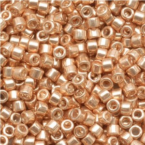 Miyuki Delica Seed Beads 11/0 Galvanized Gold DB411 7.2 Grams | Shop jewelry making and beading supplies, tools & findings for DIY jewelry making and crafts. #jewelrymaking #diyjewelry #jewelrycrafts #jewelrysupplies #beading #affiliate #ad